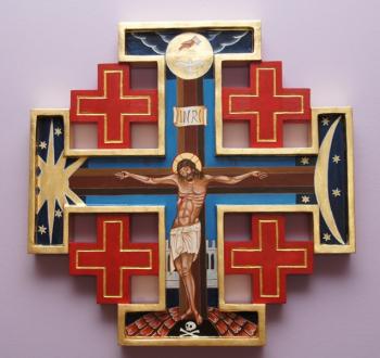 Krzyż jerozolimski. Maj 2021.