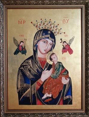 Matka Boża Nieustającej Pomocy. Wersja z koroną. Styczeń 2019.