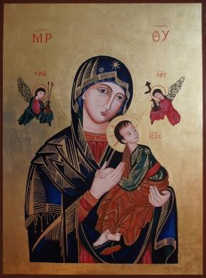 Matka Boża Nieustającej Pomocy. Wersja bez korony. 80x60 cm. Styczeń 2019.