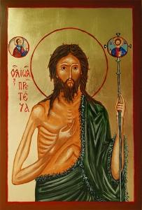 Ikona św. Jana Chrzciciela. Czerwiec 2017.