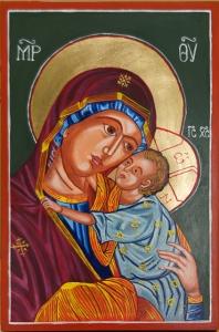 Matka Boża z Dzieciątkiem. Lipiec 2017.