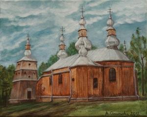 Cerkiew bieszczadzka. Styczeń 2018.