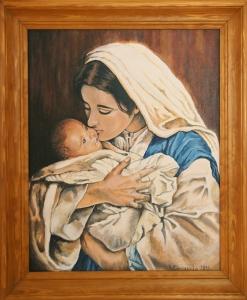 Matka Boża z Dzieciątkiem. Kwiecień 2018.