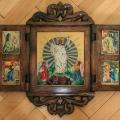 Zmartwychwstanie. Malowane na szkle w drewnianym tryptyku. Wymiary po rozłożeniu: 50x52cm. Kwiecień 2012.