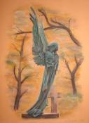 Cmentarny anioł (2). Styczeń 2009. Wymiary: 24x32cm.