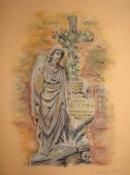 Cmentarny anioł (3). Styczeń 2009. Wymiary: 24x32cm.