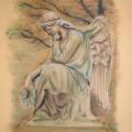 Cmentarny anioł (1). Styczeń 2009. Wymiary: 24x32cm.