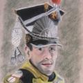 Dowódca piechoty. Trzeci z serii żołnierzy czasów Napoleona. Styczeń 2008.